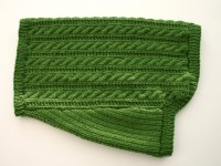 Green Cabled Dog Sweater