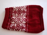 Red Snowflake Dog Sweater