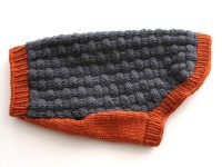 Gray & Orange Dog Sweater