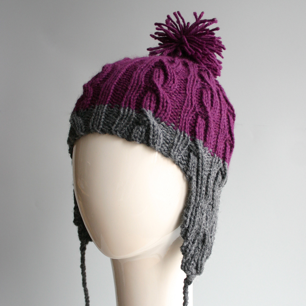 Purple & Gray Large Cable