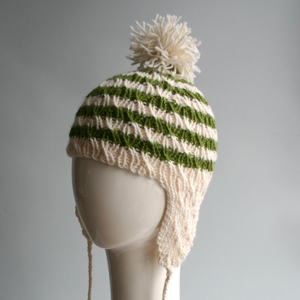 Green & Beige Striped