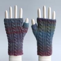 Glacier Bay Cable Fingerless Gloves
