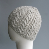 Natural Heather Cable Hat