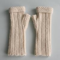 Cream Cuffed Gloves