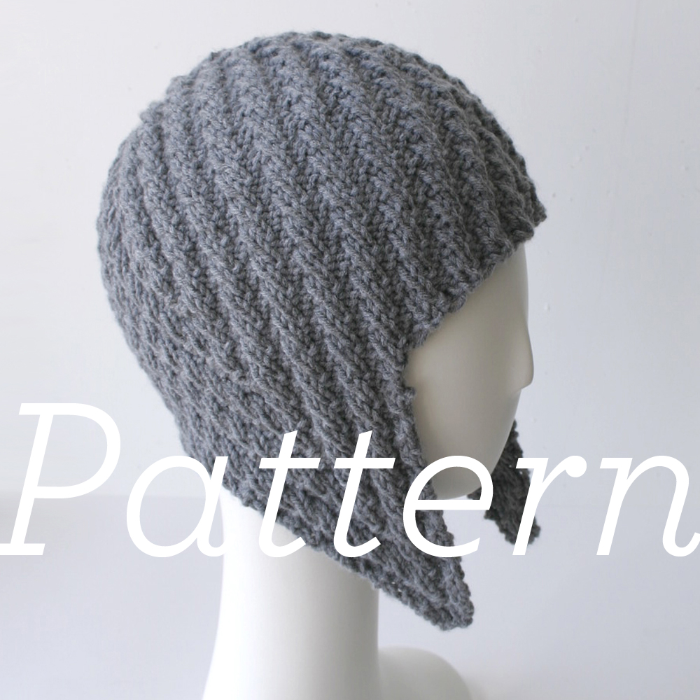 Knitting Pattern For Baby Pilot Hat : Knit Pattern: Herringbone Rib Aviator Hat Knits & Prints
