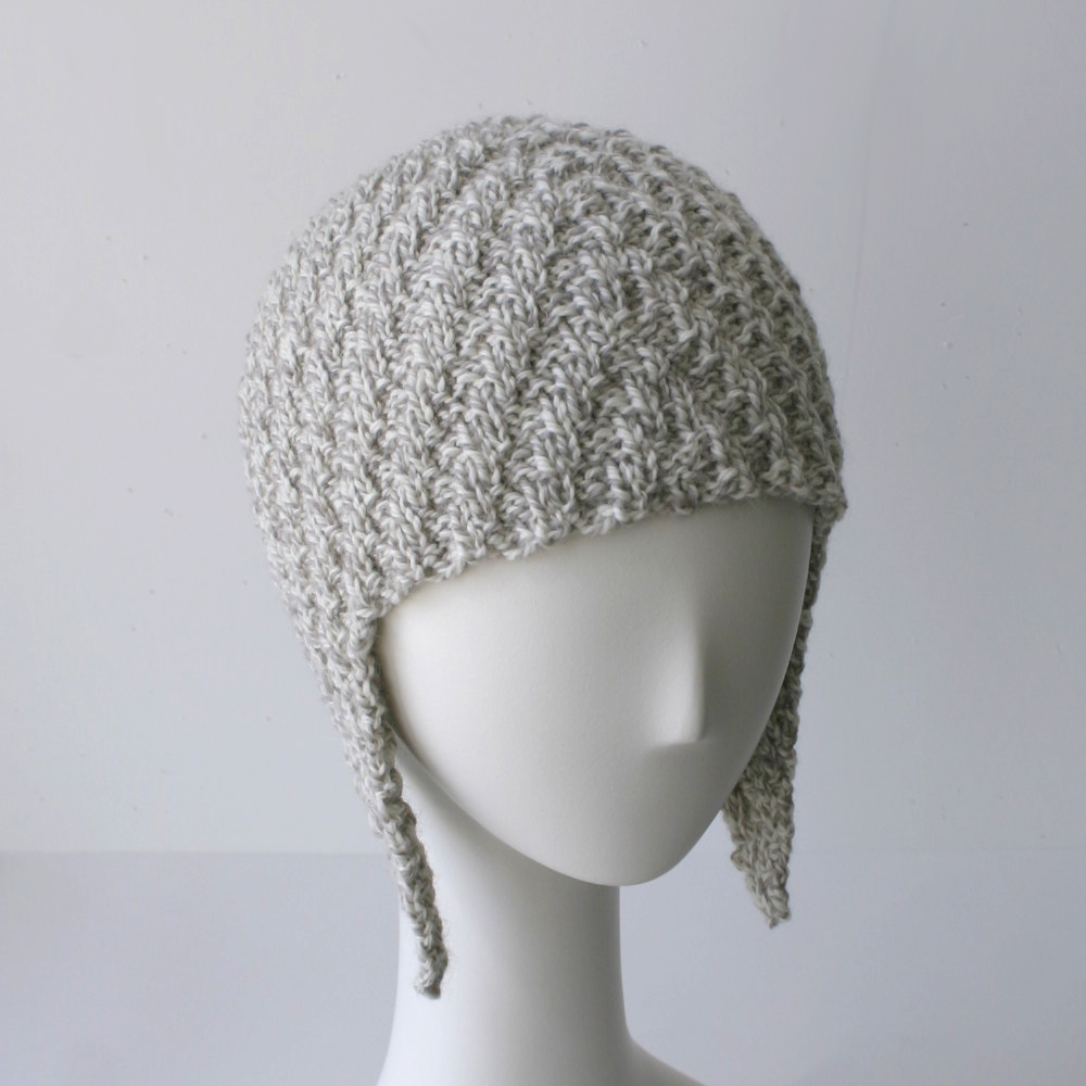 Knit Pattern: Herringbone Rib Aviator Hat Knits & Prints