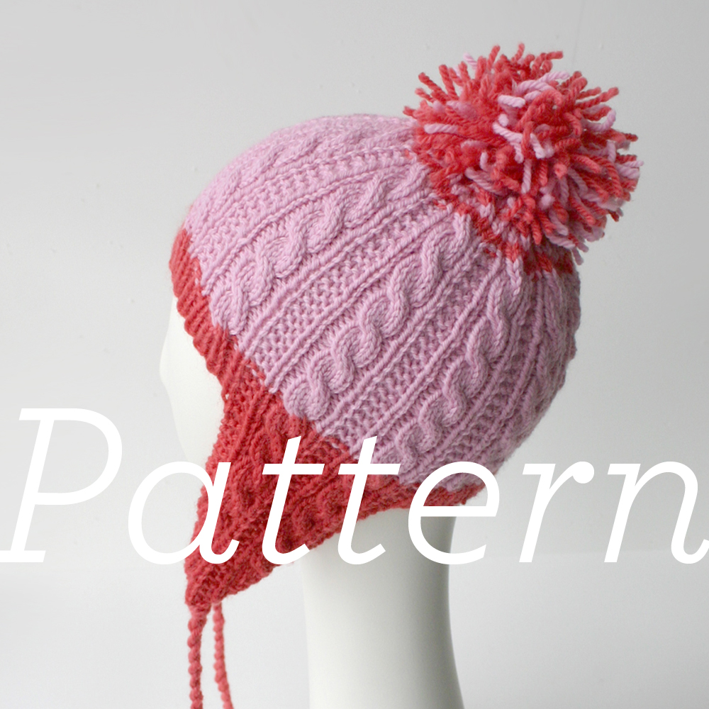 Knit Pattern: Gingerbread Icing Ear Flap Hat | Knits & Prints