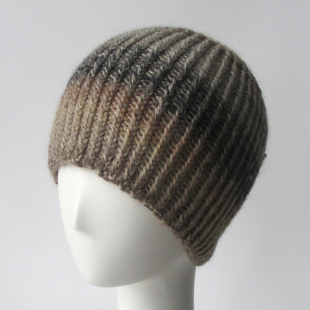Free Knitting Pattern Reversible Hat : Updated Knit Pattern: Twisted Rib Reversible Hat Knits ...